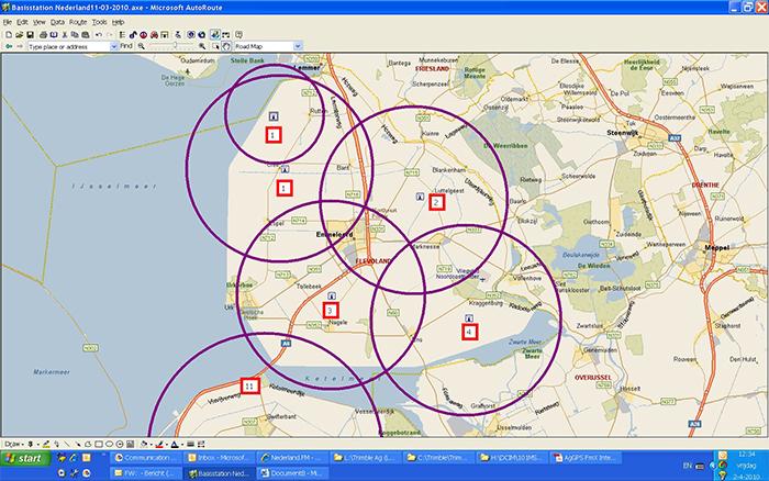 Verkoop basisstations & RTK-GPS stuursystemen aan Future Farming Flevoland