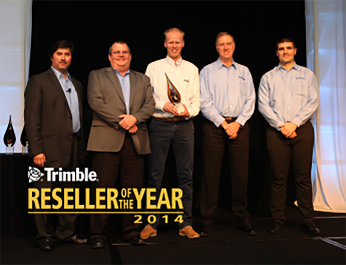 Winnaar Trimble Reseller of the year