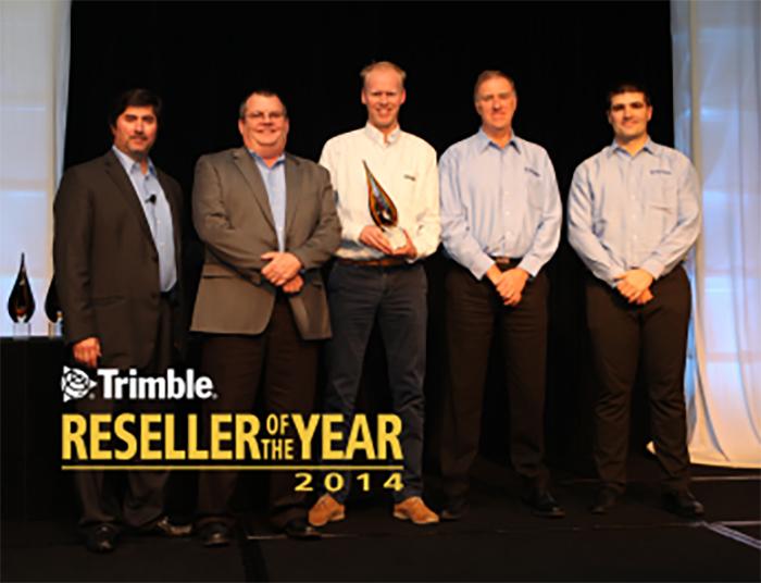 Winnaar Trimble Reseller of the year