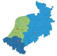 Werkgebied Vantage Agrometius Nederland Belgie Duitsland